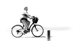 No Treble (parenthesedemparenthese@yahoo.com) Tags: dem 2018 bn backlighting bike espagne espana femme monochrome murcia murcie nb noiretblanc sanpedrodelpinatar spain woman blackandwhite bnw byn canon600d contrejour ef24mmf28 grandcontraste highcontrast highkey littoral seashore september velo