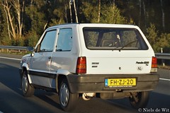 1992 Fiat Panda 1000 CL i.e. (NielsdeWit) Tags: nielsdewit car vehicle fhzj20 fiat panda firstowner 1000cl 1000 cl ie driving a12 highway clx
