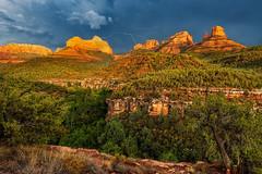 Monsoon Sky Over Mitten Ridge (Guy Schmickle) Tags: arizona coconinonationalforest mittenridge oakcreekcanyon sedona storm