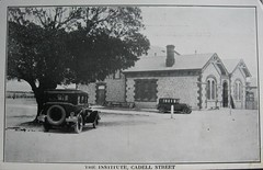 The Institute, Cadell Street, Goolwa, S.A. - early 1900s (Aussie~mobs) Tags: goolwa southaustralia vintage theinstitute cadellstreet car automobile building architecture aussiemobs