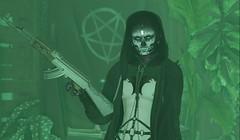 Your deformed self. (TheJun) Tags: gun ak hoodie harness scary