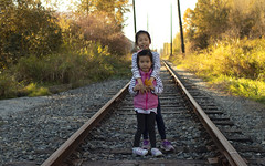 Fall Colours 4 (Xiao-Bu) Tags: canoneosm5 ef35mmf14lusm fall portrait traintrack