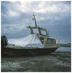 Turn The Tide (isaacwilliamson) Tags: boat kent lubitel medium format twin lens reflex sea coast