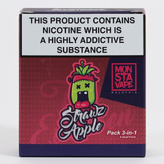 Monsta Vape's - Strawz Apple (VAPEPRODUCTPHOTOS) Tags: eliquid vape vaping vapour oxford aramax ara max 10ml 3mg 0mg 6mg 12mg 18mg box apple pg vg 500px tpd high