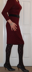 Lady in red (Anna Vinny) Tags: blacktights crossdresser dress legs heels highheels tights longlegs pumps tranvestite