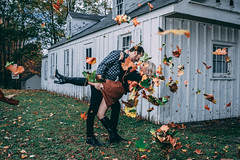 Adam & Steph (Dave Fryer Photography) Tags: engagement strobist canada fall autum younglove nikond500 2470mm sb700 pocketwizard georgetown scotsdalefarm nikon speedlight love leaves