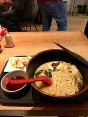 Yamagoya, 49 The Cut, London, United Kingdom, South Bank, London SE1 8LF (bellaphon) Tags: noodles japanesefood ramen chashu yamagoyaramen tonkotsu porknoodles softboiledegg woodear gyoza dumplings waterloo 拉麺 ラーメン ramennoodles nori