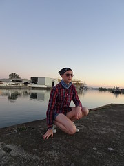 wearing short shorts in autumn (barelegadventureboy) Tags: legs barelegs shortshorts denimshorts smoothlegs hotpants shorts lumberjack lumberjackshirt