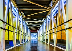 IMG_11568 (Kathi Huidobro) Tags: urbanism carpark metalwork lightingdesign lighting london tunnel bridge architecture footbridge