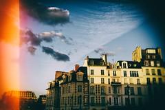 En demi ciel (Calinore) Tags: france paris city ville diagonale buildings immeubles architecture meteo quaisdeseine samaritaine clouds nuages