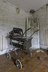 Old Stroller (Frank C. Grace (Trig Photography)) Tags: abandoned urbex urbanexploration decay crusty rusty hdr highdynamicrange photography farm farmhouse forgotten d850 nikon newhampshire frankcgrace trigphotography on1pics home house rustic old antique stroller baby infant