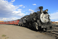 Engine 484 with carriages (jpotto) Tags: usa antonito steamtrain cumbresandtoltecscenicrailroad train steam transport railway colorado
