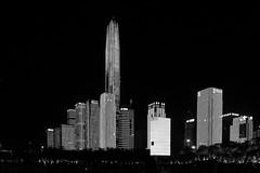18111864 (felipe bosolito) Tags: skyline night shenzhen china skyscraper light lightshow blackandwhite blackwhite bw fuji xpro2 xf1655 acros ping an international finance centre pinganinternationalfinancecentre pinganifc