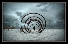 Encircled (Fotogravirus) Tags: infrared ir720 for conceptualart art dark eerie creepy circle flevopolder dronten encircled sombre fairytale