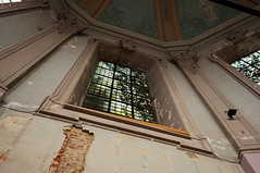 Dissected Window (lewist584) Tags: sony sonynex5r nex5r nex emount belgium leuven louvain sigma19mmf28dn art window dissectionchamber university historic
