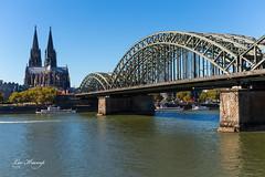 Rhine River   Cologne (Leo Kramp) Tags: 2018 websitelandschap cologne dom keulen spoorbrug bridge leokramp kramp leokrampfotografie wwwleokrampfotografienl
