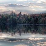 Lake Placid  ~ New York ~ Early Sunset  ~ Autumn Leaves thumbnail