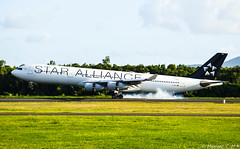 Der Rauch ! (Maxime C-M ✈) Tags: airplane smoke colors frankfurt exotic beautiful travel passion deutschland aviation martinique island caribbean cruise special
