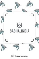 example of nametag for Instagram (Sasha India) Tags: instagram nametag instatag tag name sashaindia дизайн qrcode design 設計 디자인 التصميم σχέδιο डिज़ाइन வடிவமைப்பு desenhar projekt עיצוב desain shark tiburón
