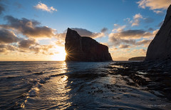 Sunrise at Percé Rock (Eden Bromfield) Tags: percérock rocherpercé quebec canada bonaventureisland îlebonaventure landscape sunrise sea cliffs