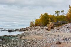 _DSC2370 (onesun1moon) Tags: autumn landscape trees beach stairs rocks