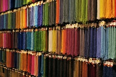 Wall of Colors (g-liu) Tags: vancouver granville sony a6500 necklace jewelry beads color rainbow colorful vivid store shop wall indoor