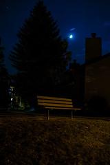 Moonlit Bench (benakersphoto) Tags: bench flagstaff az arizona moon night nighttime nightphotography nikon nikkor