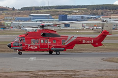 G-REDM, Eurocopter AS332L2 Bond Helicopters @ Aberdeen ABZ (LaKi-photography) Tags: flugzeug plane aircraft avion hubschrauber helicopter airport airfield aeroporto aeropuerto airline flughafen flugplatz fluggesellschaft aerolínea offshore unitedkingdom uk greatbritain grosbritannien schottland scotland aberdeen dyce abz egpd spotting canon luftfahrt aviation aviación eurocopter airbushelicopter as332 superpuma bond