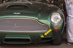 Needing fresh air (NaPCo74) Tags: goodwood revival 2018 lord march duke richmond sussex chichester england english british britain classic historic car race racing motor circuit aston martin db4 gt db 4 canon eos 700d green curves sexy