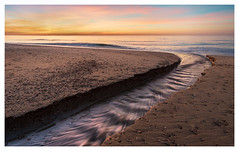 Yesterday's sunset at the beach (Rob Schop) Tags: wideangle f56 landscape sunset sonya6000 nederland outdoor sea longexposure zeeland beach waves zonsondergang strand pola hoyaprofilters samyang12mmf20 motionblur seascape a6000 color le brouwersdam merge