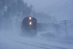 High country blizzard (Moffat Road) Tags: riogrande drgw denverriograndewestern freighttrain snow blizzard snowstorm eastportal colorado train railroad locomotive winter co emd gp402 3100