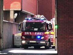 LFB Soho Pump Ladder Responding (slinkierbus268) Tags: lfb london fire brigade bluelights sirens mercedes atego pl pump ladder soho firestation responding