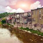 Paris Ontario - Canada- Paris Ontario - Canada - Grand River -  Back of Commercial Building thumbnail