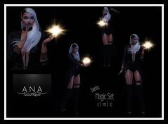 NEW!! Ana Boutique Magic Set @ 3E Event (Anastassiana | Ana Boutique SL) Tags: 3eevent maitreya catwa magic pose posing darkness bento secondlife sl virtualworld anaboutique halloween