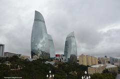 Flame Towers - Baku (hamid-golpesar) Tags: flametowers hotelfairmont bakufairmont tower building sky skyscraper glass baku azarbayjan outdoor owaysee tabriz travel hamid hamidowaysee hamidgolpesar iran
