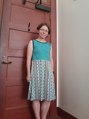 Onfim dress (quinn.anya) Tags: onfim quinn sewing birchbarkletters spoonflower