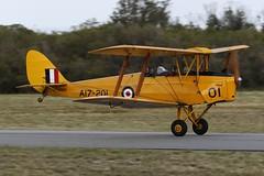 VH-DWD De Havilland DH-82A Tiger Moth (johnedmond) Tags: perth ysen westernaustralia serpentine flyin de havilland dh82 tiger moth biplane australia aviation aircraft aeroplane airplane plane warbird canon eos7d 100400mm ef100400mmf4556lisiiusm