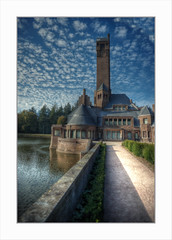 A dream within a dream (Fr@nk ) Tags: dsc00431tmsthubertusportr sonya7r europe europ12 mrtungsten62 frnk recent rec0309 dehogeveluwe architect berlage hunting jacht slot castle architecture water sky ciel wolken clouds nuages 2018 canonfdn20mm28 ilcea7r ektachrome 圣胡伯狩猎住宅 hendrikpetrusberlage antonkröller helenekröllermüller jachthuissinthubertus