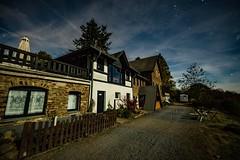 Steinerberghaus in mondheller Nacht (clemensgilles) Tags: eifel germany nachtfoto longexposure deutschland stargazing nightphoto