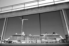 OCT_1823_00017 (Roy Curtis, Cornwall) Tags: spain vigo ship cruise holiday celebritysilhouette reflection window