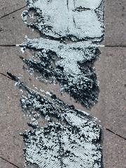 Crosswalk (jaxxon) Tags: 2018 d610 nikond610 jaxxon jacksoncarson nikon nikkor lens nikon105mmf28gvrmicro nikkor105mmf28gvrmicro 105mmf28gvrmicro 105mmf28 105mm macro micro prime fixed pro abstract abstraction crosswalk tar texture surface tread concrete urban street road pedestrian crossing tires wear distressed vinyl friction grip white