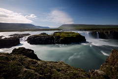 Godafoss (Leon Sammartino) Tags: godafoss iceland waterfall landscape blue fujifilm x series wide