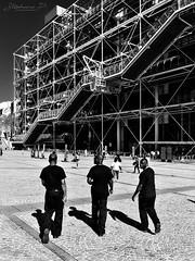 Black men in black (stephane_p) Tags: pentax blackandwhite blackwhite bw darktable monochrome nb noirblanc noiretblanc people street streetphotography candid