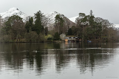 The Boathouse of Derwent Island (andyrousephotography) Tags: lakedistrict keswick derwentwater lake water island boathouse mountains catbells winter cold snow crisp landscape