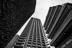 DAN_5025 (dan_c_west) Tags: nikon d750 london city urban uk england architecture building structure barbican estate wide angle bw black white monochrome brutalism concrete