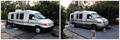 VW Riata motorhome x2 (Dave* Seven One) Tags: picmonkey volkswagen eurovan vw camper motorhome vwriata classb disney fortwilderness campground camping