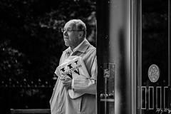 Tram Stop (Cycling-Road-Hog) Tags: blackwhite candid canoneos750d citylife colour efs55250mmf456isstm edinburgh fashion man monochrome people places princesstreet scotland street streetphotography streetportrait style urban