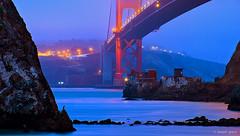 Lime Point Lighthouse (Joseph Greco) Tags: goldengatebridge sanfrancisco limepoint lighthouse bluehour twilight misty foggy