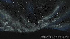How to Draw a Starry/Cloudy Night With Pastels - Narrated (fineart-tips) Tags: art drawing finearttips starrynight clouds sky pastels chalk landscape tutorial artistleonardo leonardopereznieto patreon tutto3 contest