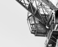 BW Crane (Photographer Christian Fagerland) Tags: crane bw black white industrial steel construction construct make tower hight